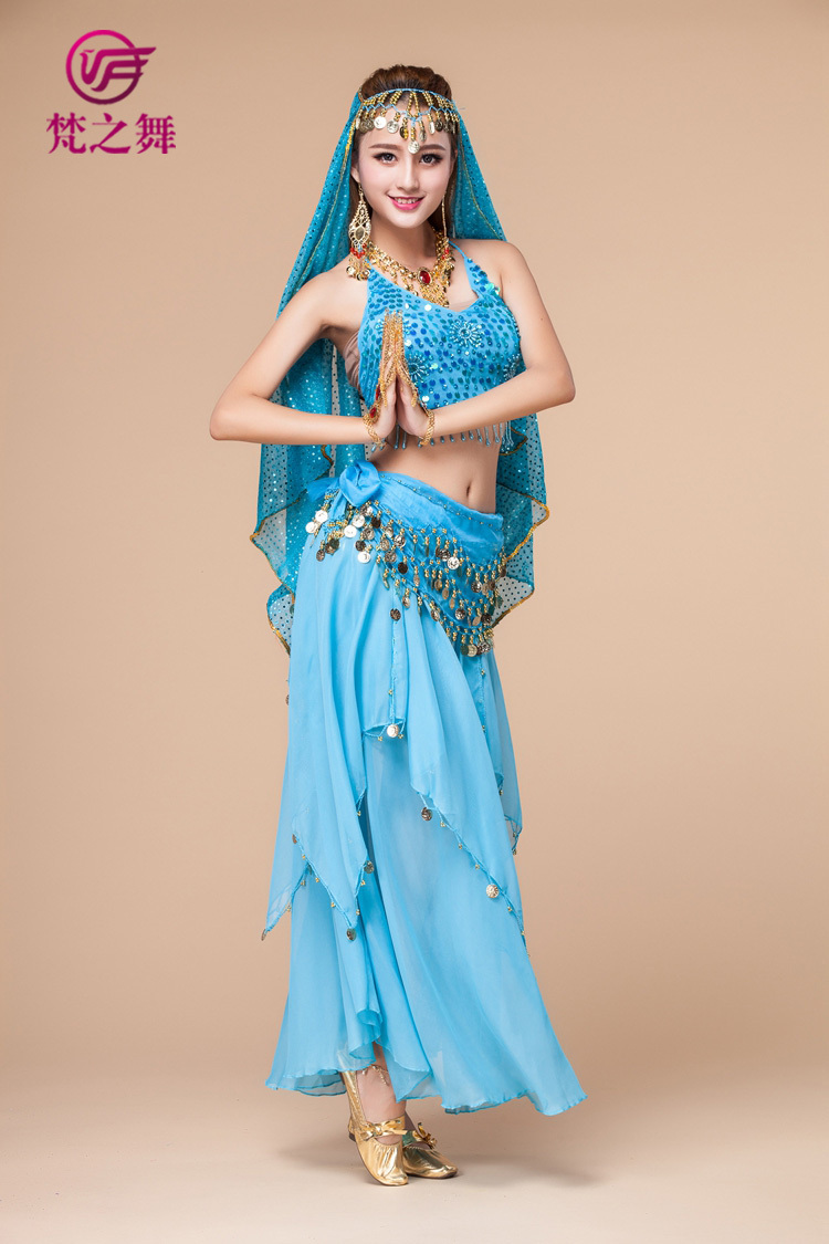 indian belly dance 4pcs 6colors arabic clothes plus size bollywood