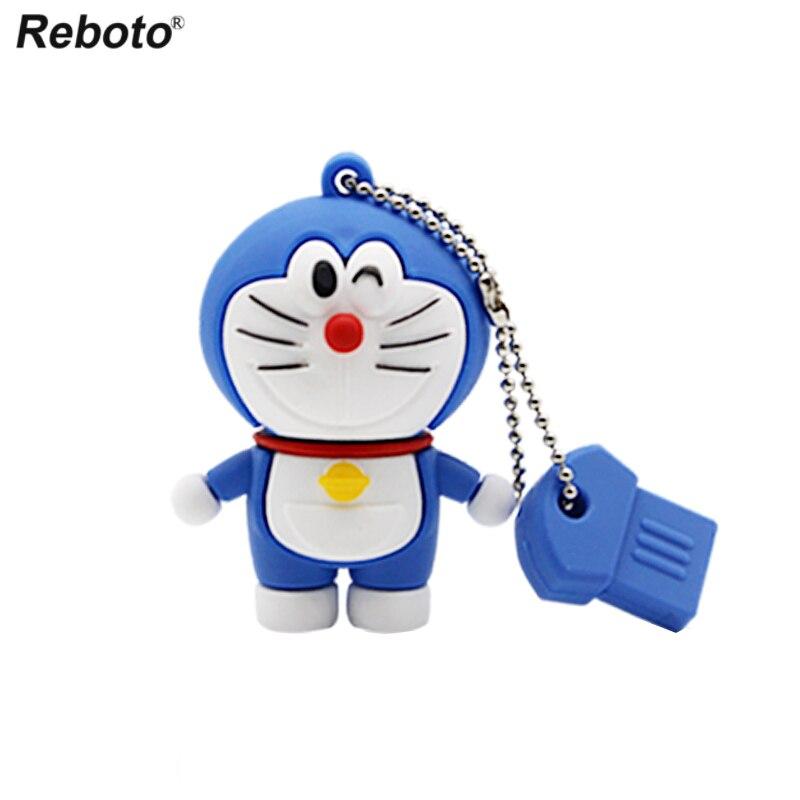 Image 4 - Cartoon USB 2.0 Doraemon USB Flash Drive 64GB Cat Memory Stick 32GB Pen Drive 16GB Pendrive 8GB USB Disk 4GB Thumb Drive-in USB Flash Drives from Computer & Office