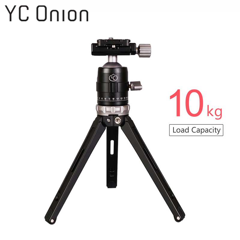 YC ONION Y1 Professional Table Tripod with Ball Head Load Capacity 10kg Portable Lightweight Aluminum DSLR Camera Phone Tripod-in Live Tripods from Consumer Electronics    1