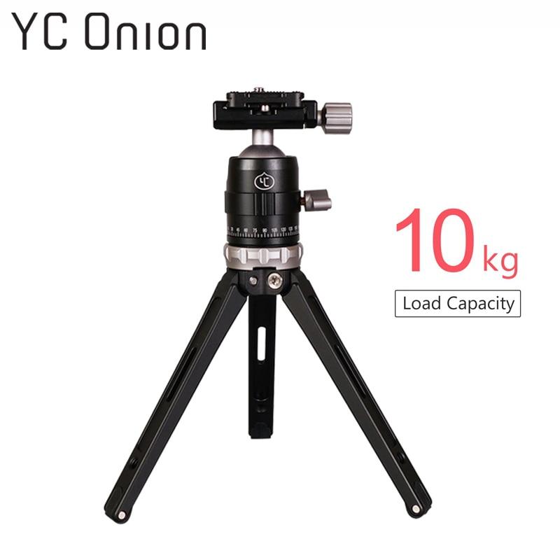 YC oignon Y1 trépied de Table professionnel avec tête à bille capacité de charge 10 kg Portable léger en aluminium DSLR caméra téléphone trépied