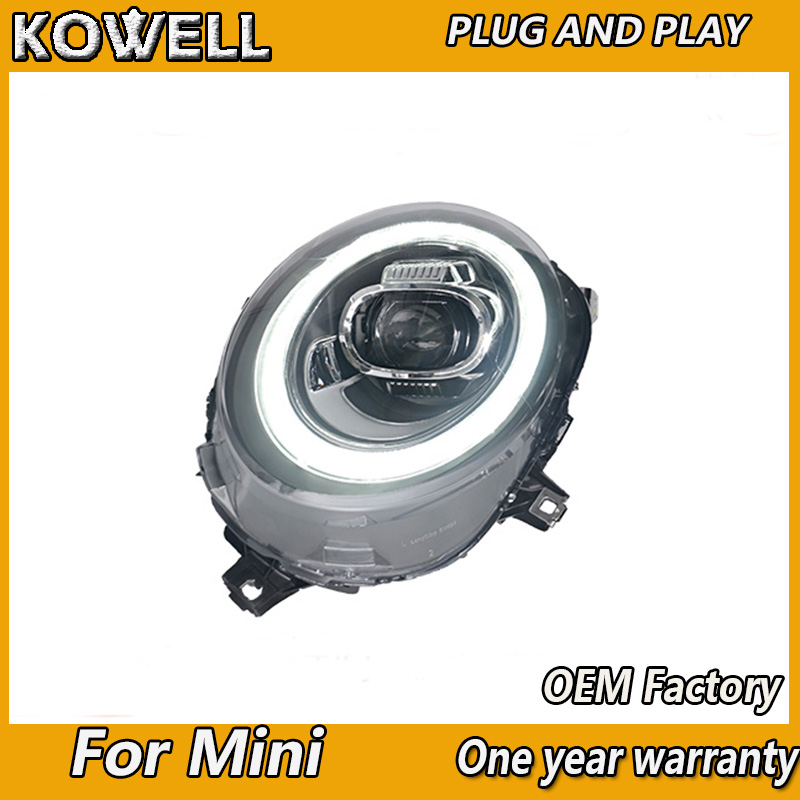 Image 3 - KOWELL Car Styling For Mini F55 F56 cooper led headlights For F57 All LED head lamp Angel eye led DRL+turn signal front light-in Car Light Assembly from Automobiles & Motorcycles