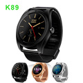 2017 Smart Watch K89 1.22inch IPS Round Screen Smartwatch Heart Rate Monitor Bluetooth Watch for iphone IOS Android Smartphone