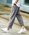 Hombres sueltan los pantalones de lino pantalones casuales guardapolvos male slim fit pantalones hasta el Tobillo ocasional pantalones de los hombres populares del verano
