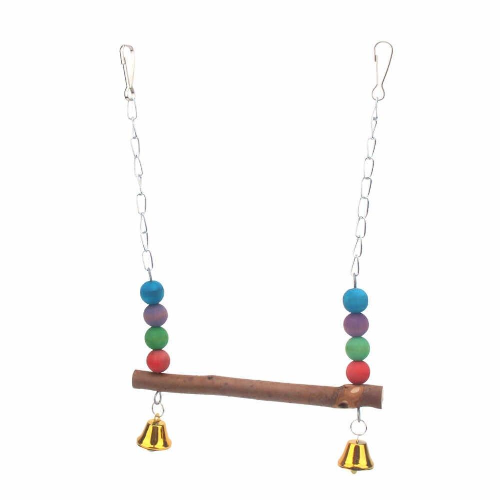PipiFren นกแก้วของเล่นและนกเชือกอุปกรณ์เสริม Parrot Love Swing Conure Stand Budgie สำหรับ Parakeet กรงตกแต่ง