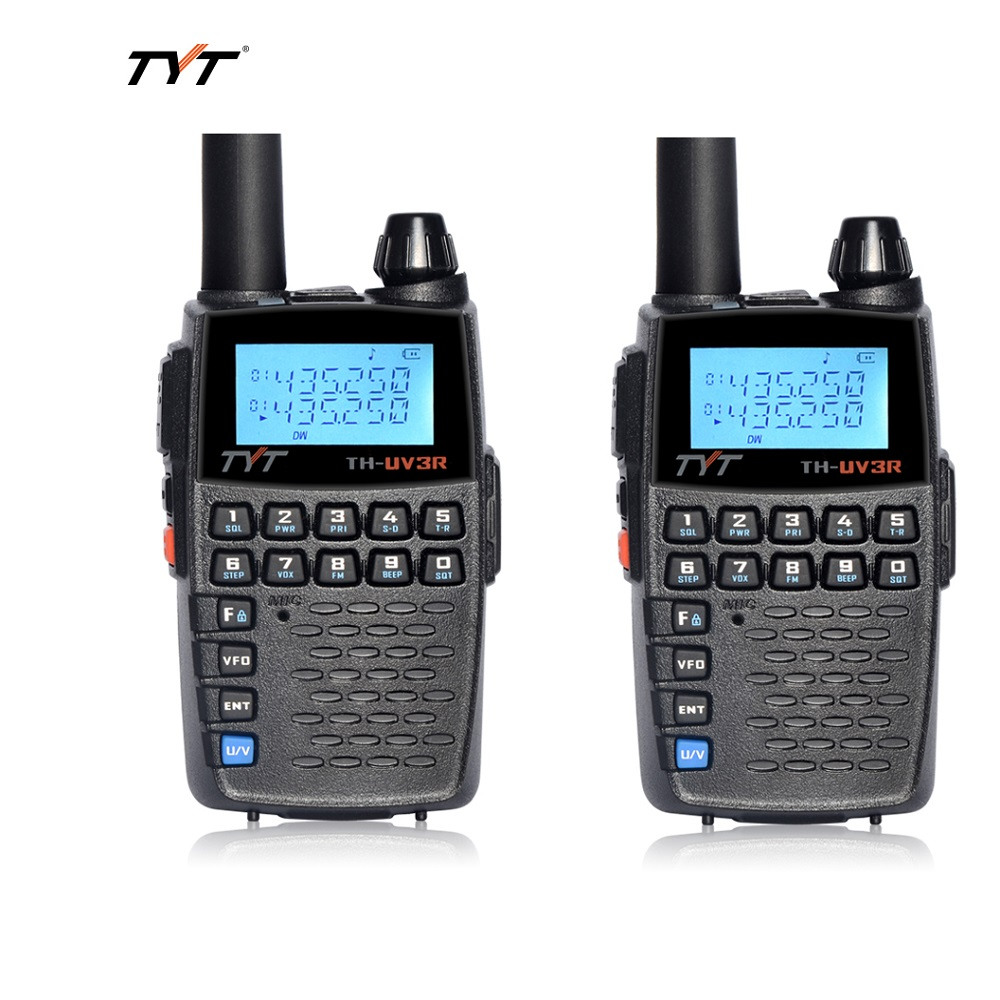 2QTY TYT UV 3R Dual Band Two Way Radio VOX VHF/UHF Portable Ham Transmitter Mini Walkie Talkies Repeater Offset Outdoor Intercom