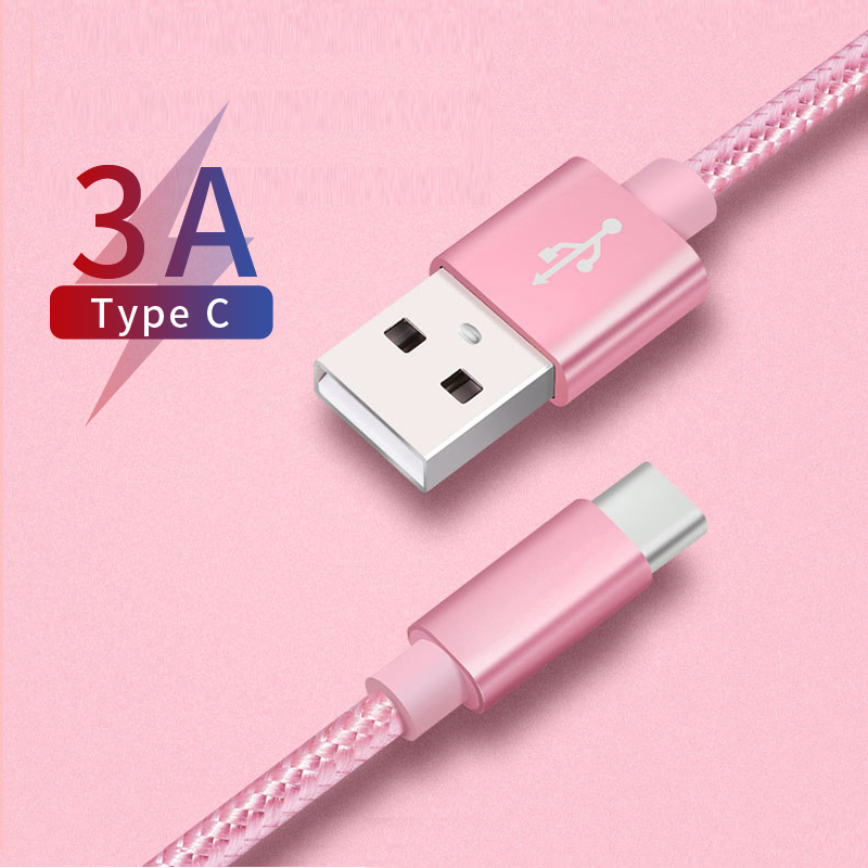 <font><b>USB</b></font> <font><b>Cable</b></font> Data Cord for Xiaomi Redmi Note7 Type C <font><b>Cable</b></font> Nylon Wire for <font><b>Samsung</b></font> <font><b>S9</b></font> S10 S8 A50 <font><b>USB</b></font> C Charging for Huawei P20 P30 image