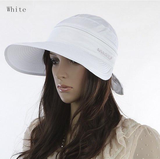 Women s font b Hats b font 2017 Summer Fashion Korean Style Bowknot Big Visor Cap