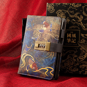 Image 2 - Kawaii A6โน้ตบุ๊คและวารสารSPIRAL Vintage Note Book Luxury DIY Agenda Planner Organizer Diary Travel Notepadล็อคของขวัญ