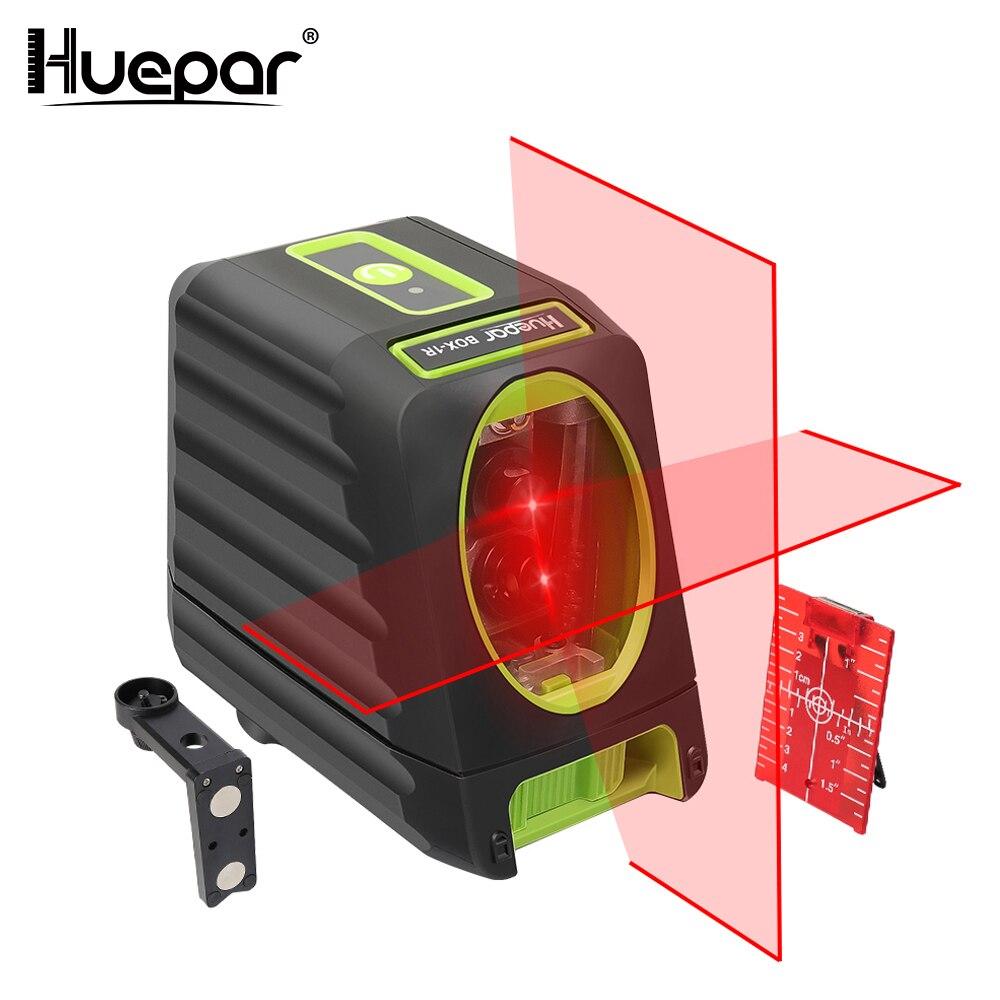 Huepar красный луч Крест линии лазерный уровень 150/130 градусов по вертикали/горизонтальный лазеры 635nm наливные Nivel лазерной диагностический инс...