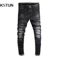 2017 Autumn Jeans Men Black Skinny Denim Pants Fashion Desinger Clothing Cotton High Stretch Slim Fit