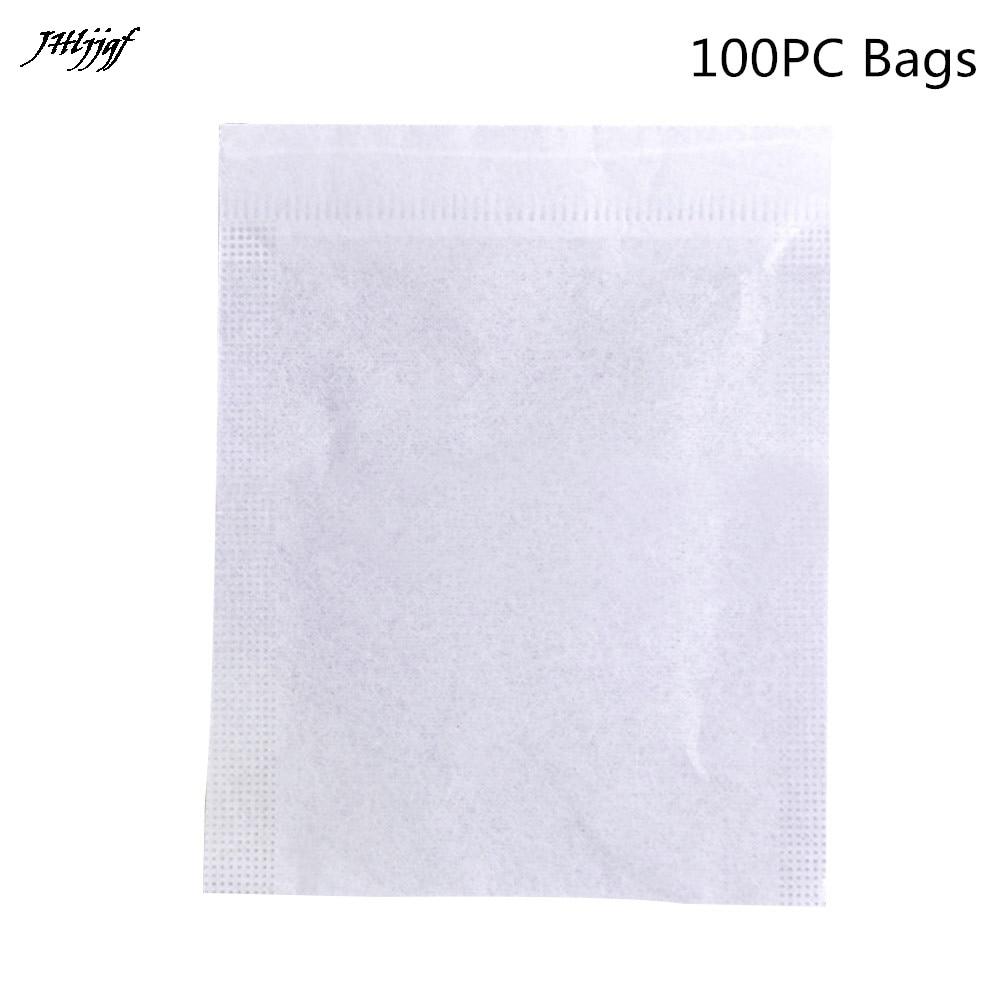 100 Pcs Functional Tea Bags Empty Teabags String Heat Seal Filter Paper Herb Loose Tea Bag Drawstring Bags