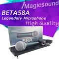 Новый Высокое Качество Beta 58a!! Динамический Проводной вокальный Ручной Микрофон Beta58 Супер-кардиоидный Микрофон Бета 58 Микрофон