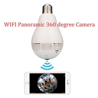 1 3MP 2 0MP 360 Degree Bulb Panoramic VR Camera Support Max 128GB TF Card 960P