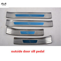 Free shipping For 2019 KIA cerato K3 stainless steel scuff plate door sill 4pcs/set high quality car accessories