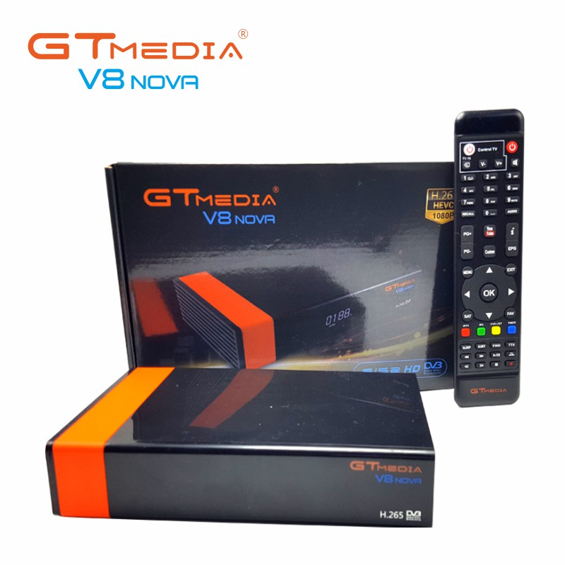 3PCS/Lot Gtmedia V8 NOVA DVB S2 satellite receiver Builtin wifi support H.265 better freesat V8 super V9 super set top box cccam цена 2017