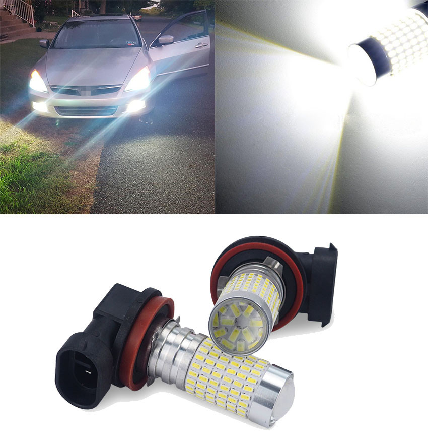 2x H8 H11 9006 HB4 LED Car Fog Driving Light 3014 LED Bulb For Nissan Qashqai Juke Almera X-trail Tiida Note Primera Pathfinder
