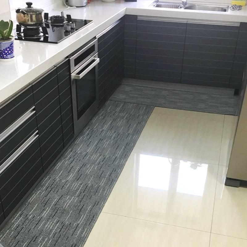 Kitchen Carpets Anti-skiddin Water Uptake Oil Absorption Carpet Long Corridor Door Bathroom Mat Door Mat Area Rug For Bedroom