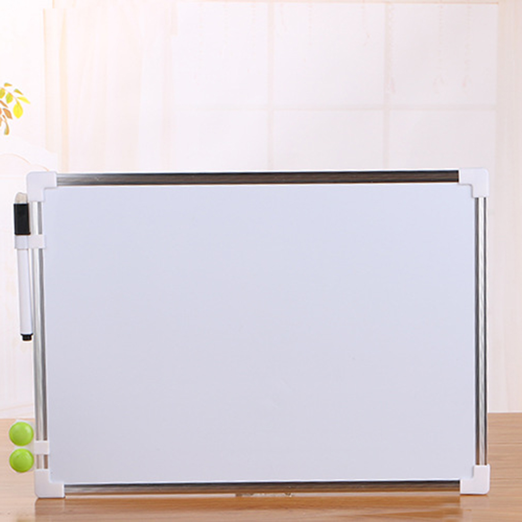 Double Side Magnetic Whiteboard Office School Dry Erase Writing Board Pen Magnets Buttons(China)