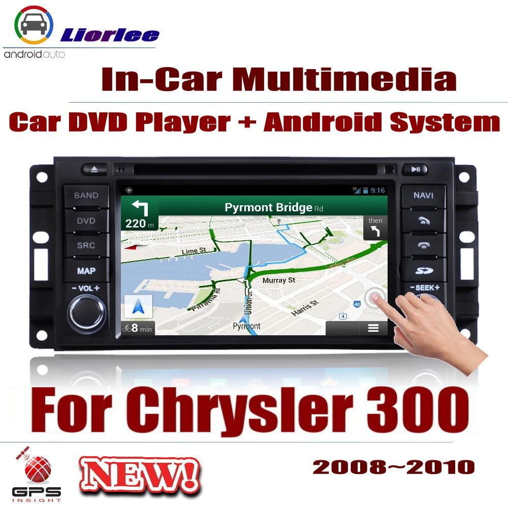 Pour Chrysler 300 300C 2008 ~ 2010 lecteur Android de voiture système d'affichage de Navigation GPS Audio vidéo dans la tête multimédia amplificateur BT HD