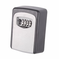 Functional 4 Digit Wall Mounted Combination Password Keys Hook Organizer Boxes Useful Outdoor Safe Key Box
