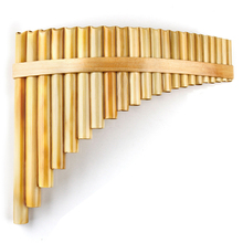 Upscale Right Hand Romanian Folk Instrument Natural Reed Pan Flute Panpipes 22 Pipes G Key Wind Panflute Flauta Handmade