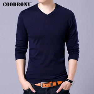 COODRONY Brand Sweater Men Knitwear Pull Homme Streetwear Classic Casual V-Neck Pullover Men Autumn Winter Woolen Sweaters 91054