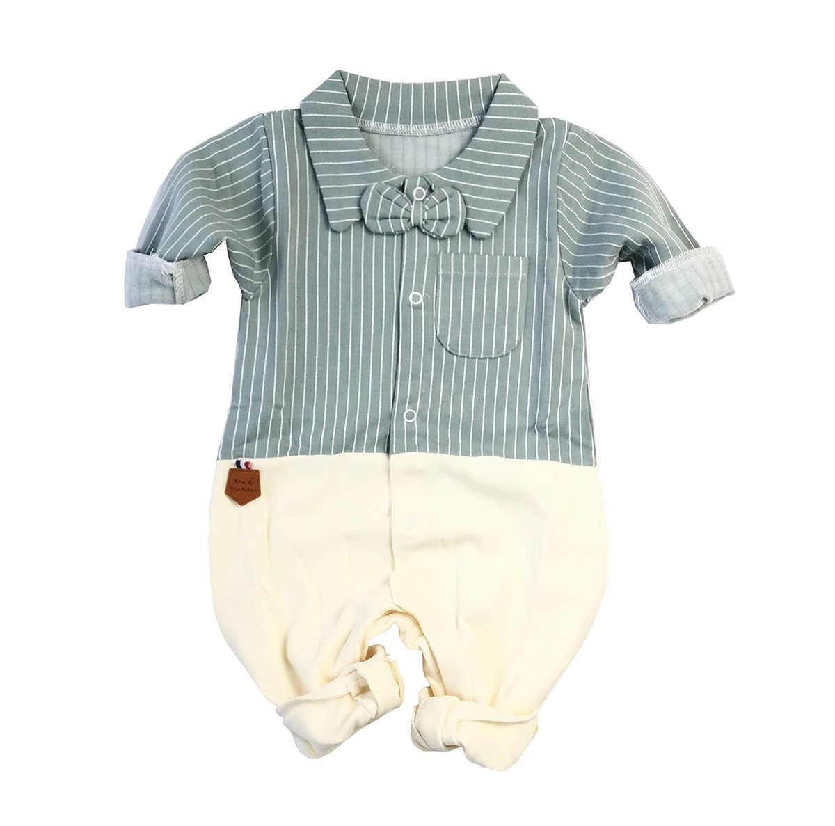 Одежда унисекс для маленьких детей; деловой цельный комбинезон с длинными рукавами; Детский комбинезон; вечерние комбинезоны для маленьких мальчиков; комбинезоны с отворотом и бантом