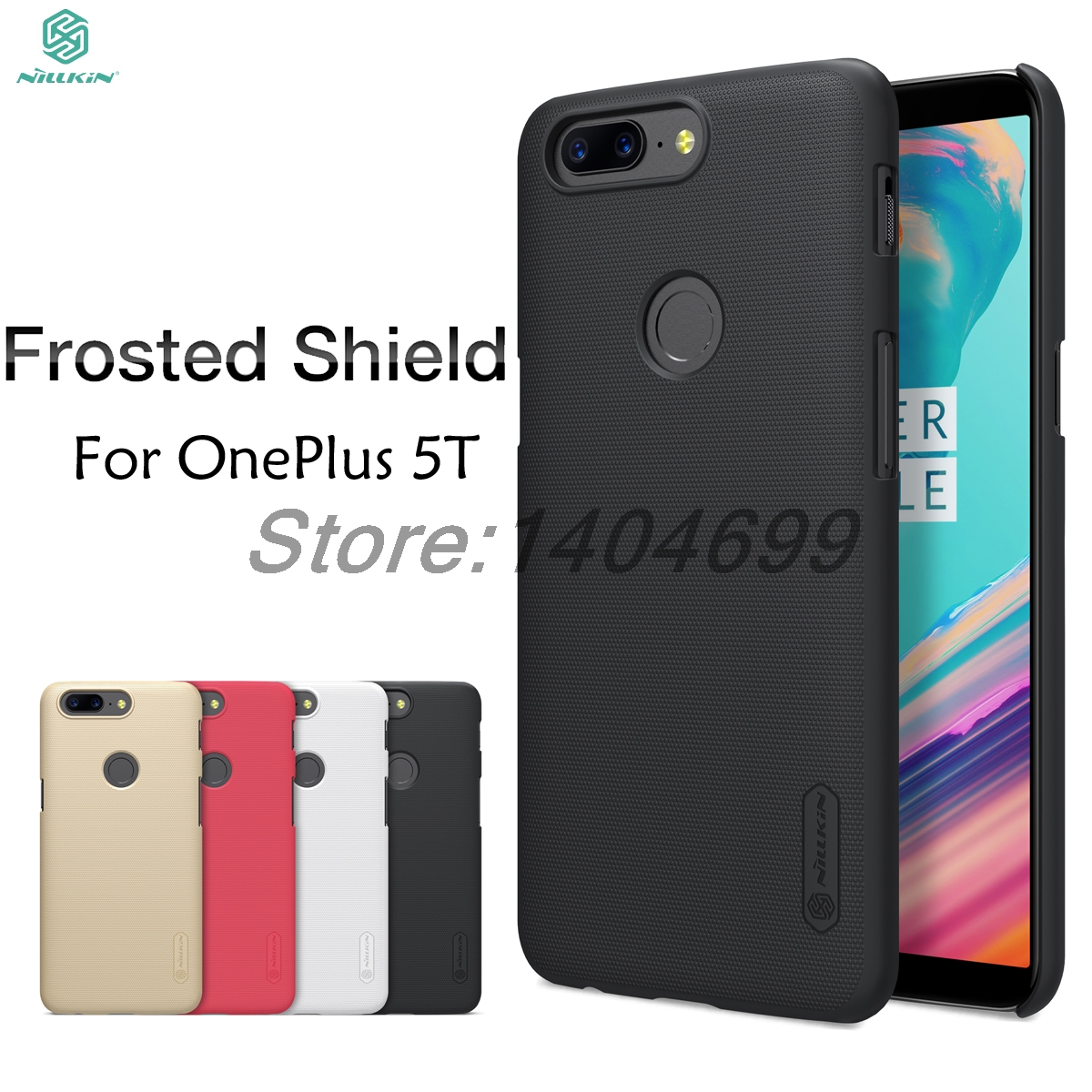OnePlus 5T Case OnePlus 5T Matte Cover A5010 Case Nillkin Frosted Shield Hard Back Case For OnePlus 5T