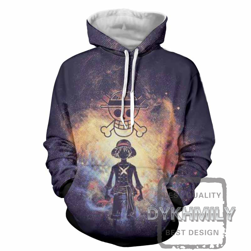 Dykhmily Luffy 3d Print One Piece Anime Style Fashion Hoodie Sweatshirt Streetwear Hip Hop Mens Hoodies And Sweatshirts 3d Print