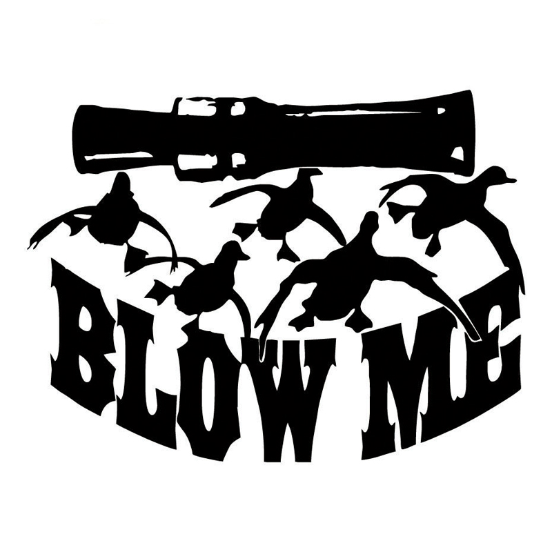 CM Blow Me Duck Hunting Hunter Vinyl Car Stickers Decals - Funny motorcycle custom stickers decals