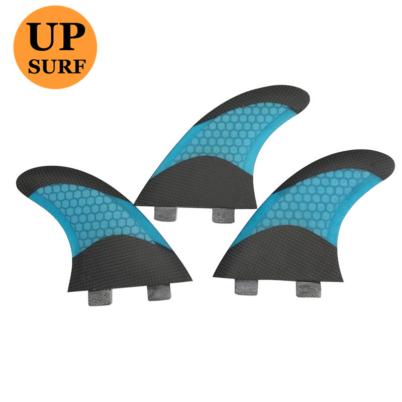 Surf Fins FCS Barbatana G5 Honeycomb Surfing white Red Green Blue Yellow and Black Quilhas