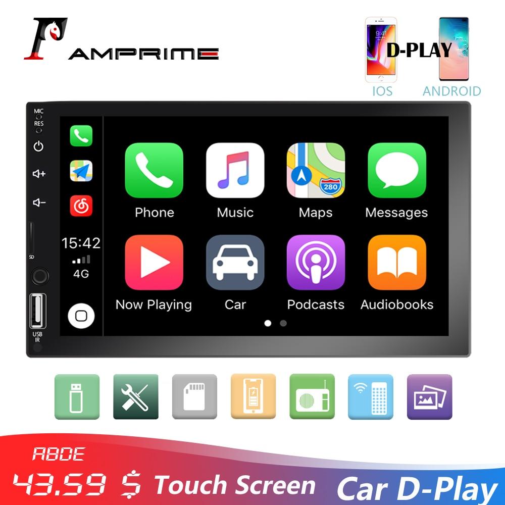 AMPrime 2Din Multimedia Player 7 Touch Screen Car Stereo Radio D Play Mirrorlink Autoradio Bluetooth FM