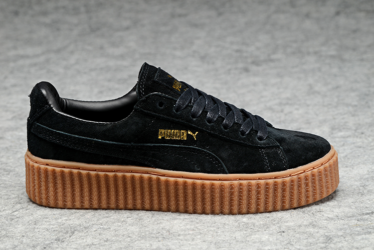 New arrive Puma by Rihanna Suede Creepers shoes Lace-up Brea