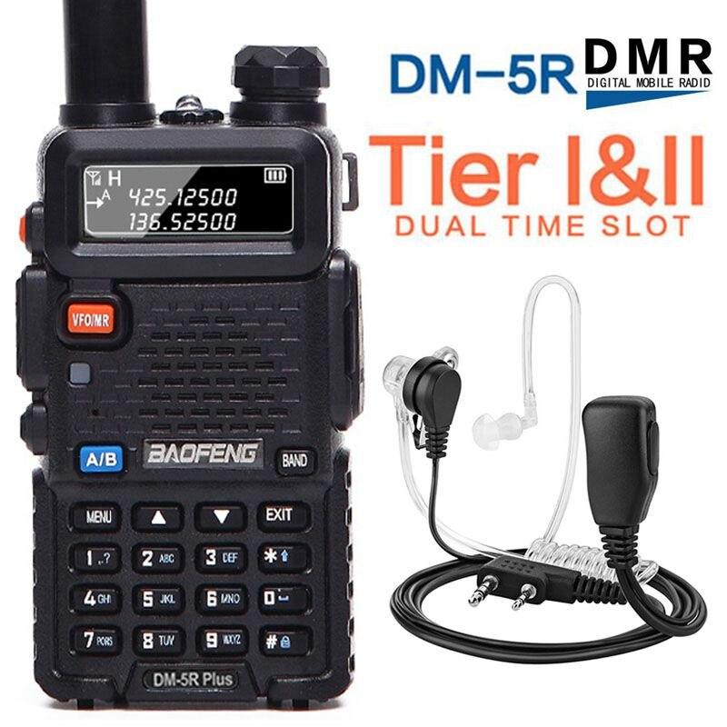 2018 Baofeng DM 5R PLUS Tier2 Digital Walkie Talkie DMR Two