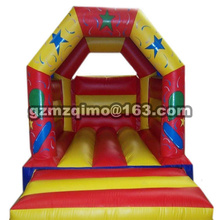 2017 new arrival Child inflatable bouncer home air trampoline inflatable toy for jumping bounce house castle shape playground