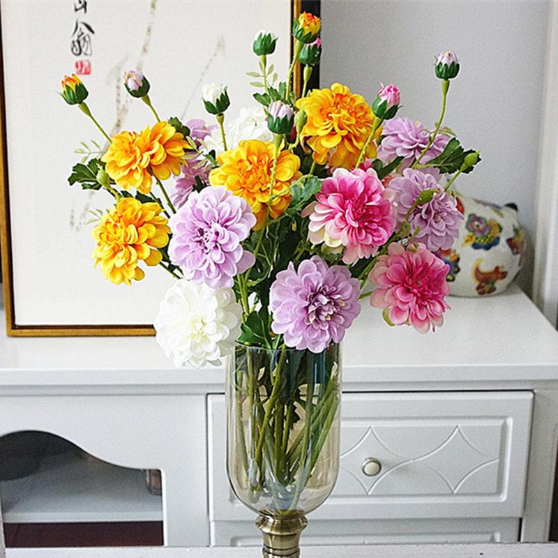 Очень рекомендую новые искусственные травы пион ветка для нового дома гостиной дома Свадебные Декоративные искусственные цветы Флорес