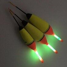 5 Pcs/Lot EVA Luminous Fishing Float+10Pcs Fishing Glow Sticks Long Vertical Night Lighting Stick Fishing Floats Bobber Set