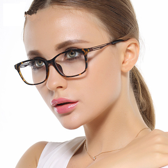 Chashma Women Leopard TR90 Eyeglass Brand Design oculos de grau Clear Lenses Eye Glasses Frames for Female