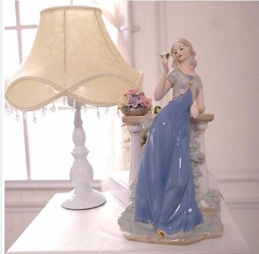 Personnages en céramique européens ornements cadeaux de mariage pour envoyer des ornements d'enfant artisanat cadeaux de fête des mères cadeaux de mariage 05112 - 2