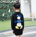 Spring baby girls sweater soft woolen blended cartoon casual long style costume knitted kids clothes outwear for girls children