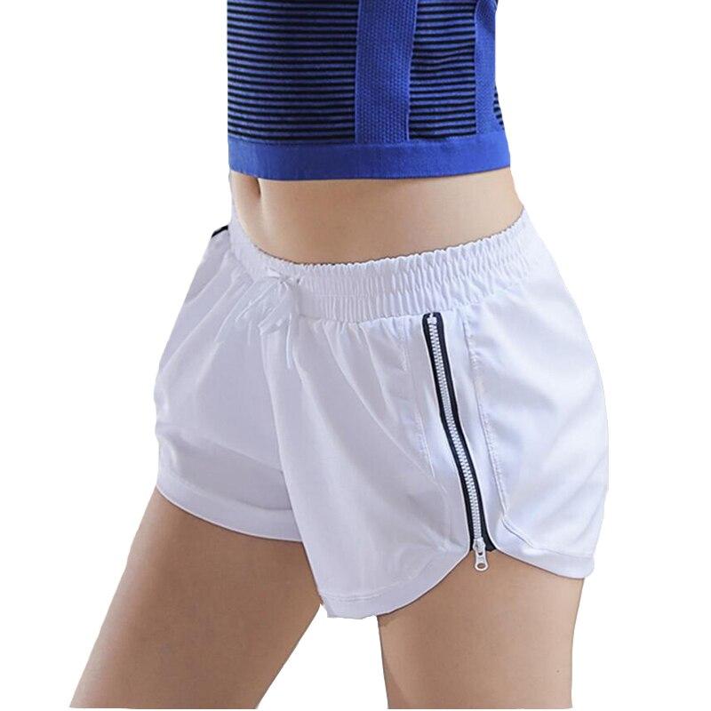 <+>  CKAHSBI Женщины Спорт Фитнес Йога Шорты 2 В 1 Женские Спортивные Бег Короткие Фитнес Боковой Молнии  ✔