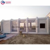 М 8 м * м 4 3 коммерческих надувные Краски Красильной будки, открытый палатка серый надувной навес для автомобиля с бесплатной воздуходувы
