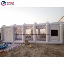 8 м * 4 3 коммерческих надувные покрасочная камера, открытый краска в баллоне распылителе палатка серый надувной навес для автомобиля с бесплатной воздуходувы