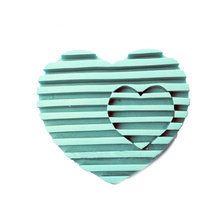 PRZY QT0071 Love Ridges Soap Mold heart shape Silicone molds candle chocolate mould silicone fondant clay moulds