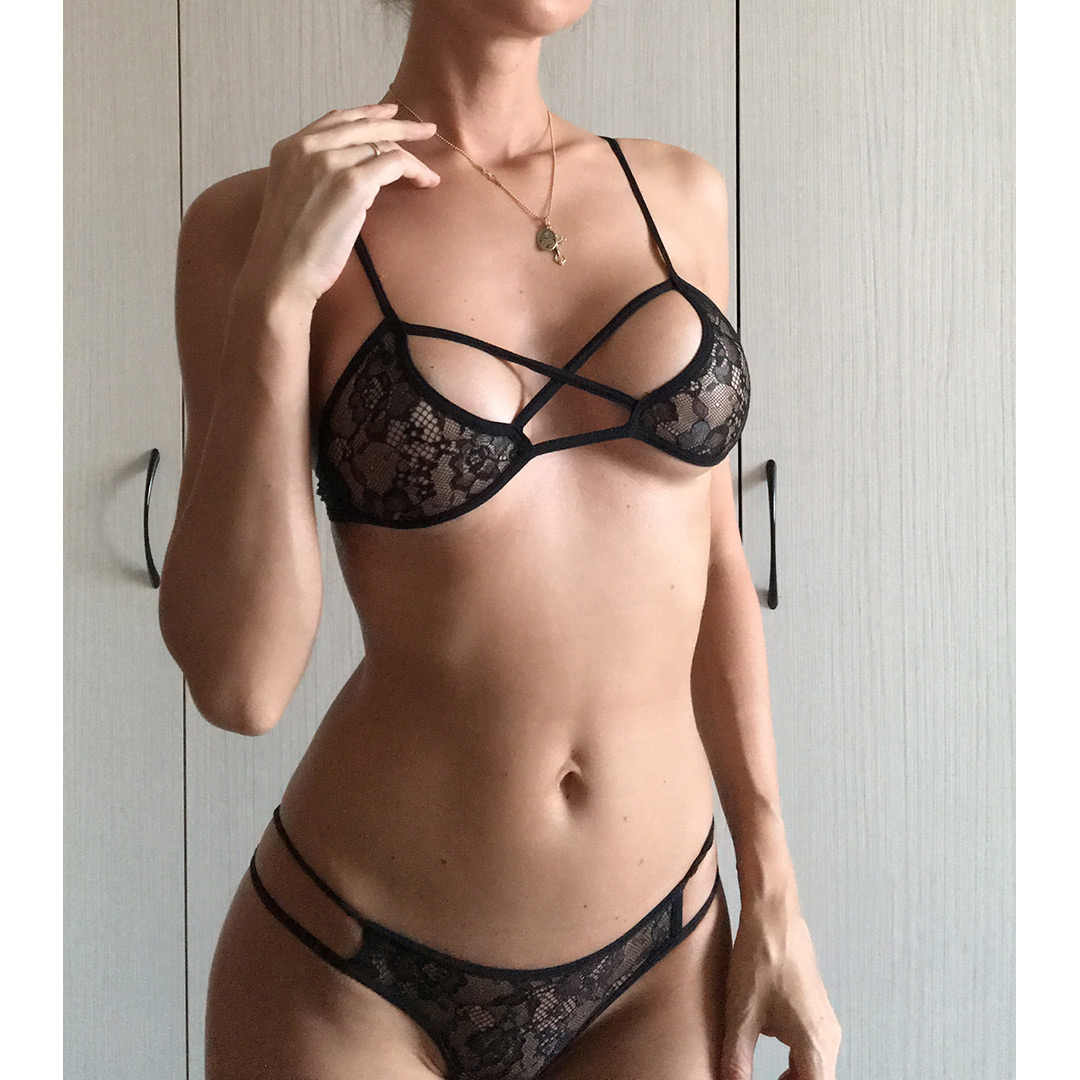 901baf3679bf Detail Feedback Questions about 2018 Sexy Black Lingeries Women Lace  Underwear Bra Low Waist Mesh Panties Adjustable Strap Bralette Push Up Bra  Set LNE122 ...