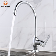 MYNAH Single Handle Kitchen Faucet Polished Single Hole Water Tap Cold and Hot Water Mixer Tap