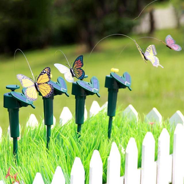1 pc di Vibrazione Volo di Energia solare Farfalla Danza Volare Farfalle Svolazz
