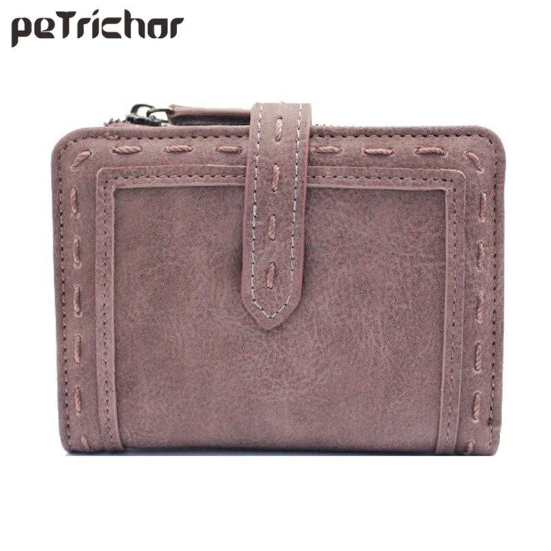 Vintage lühike rahakott mündi tasku kahe kokkuklapitava multifunktsionaalse Hasp lihtsaga rahakoti brändi daamid rahakott mood lõng väike kott