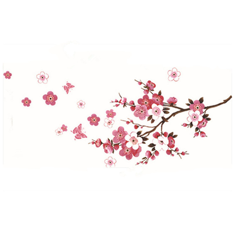 cherry blossom wall stickers flowers tree branch butterfly 3d vinyl decals home living room