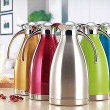 Европейский 2L вакуумная изоляция двойными стенками нержавеющая сталь кофе горшок молоко чай кувшин воды графин колба Термос бутылки